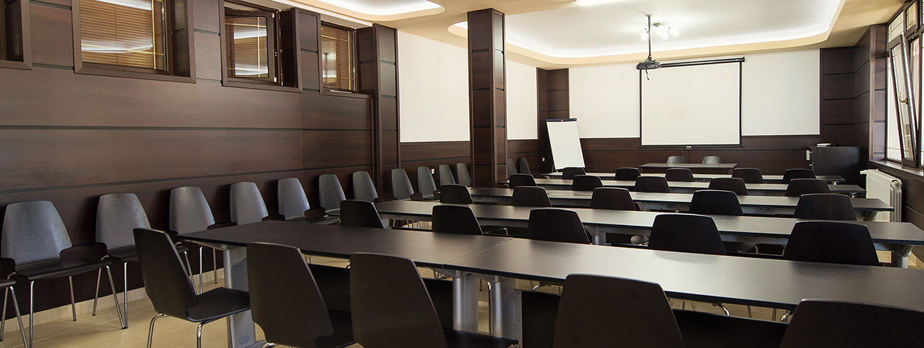 Functional conference halls with different capacity